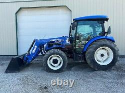 2019 NEW HOLLAND WORKMASTER 75 TRACTOR With LOADER, CAB, 4X4, HEAT A/C, 52 HOURS
