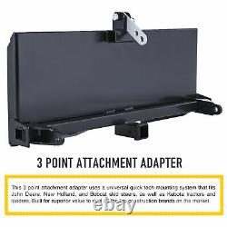 3-Point Attachment Adapter Hitch for Kubota Bobcat Skidsteer Tractor Loader sw