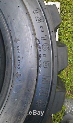 4 NEW 12-16.5 Skid Steer Tires 12 ply rating -12X16.5 -For New Holland loader