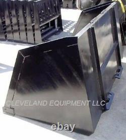 96 BULK MATERIAL XL BUCKET Skid Steer Loader Bobcat Mulch Dirt Turkey Litter 8