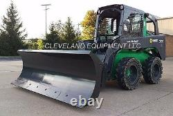 96 CID HD SNOW PLOW ATTACHMENT Hydraulic Angle Blade Bobcat Skid Steer Loader