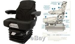 Air Suspension Seat Case Tractor / Backhoe / Crawler / Excavator / Wheel Loader