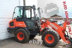 BUDD Kubota R530 R630 R30 Series Compact Wheel Loader ISO to SS adapter JD Volvo