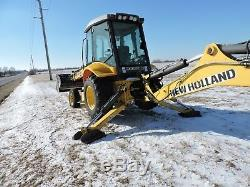 Backhoe loader trencher New Holland B90B only 1970 hrs, 2 wheel drive, 2008