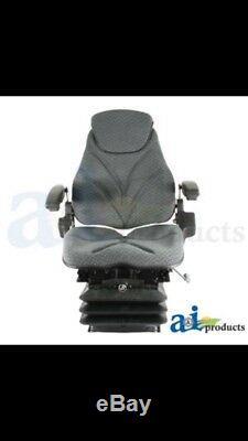 F20 Series Grey cloth air ride seat, JD, Case, New holland, Allis Chalmers Massey