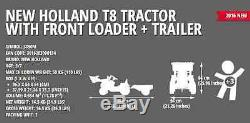 Falk Ride On Toys New Holland T8.435 Pedal Tractor With Front Loader And Trailer