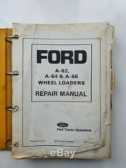Ford A62 A64 A66 Wheel Loader Service Manual
