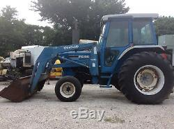 Ford Diesel Farm Tractor 6610 with New Holland 7210 Front Bucket Loader. LOW HOURS