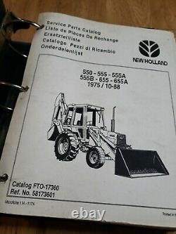 Ford New Holland 550 555 555A 555B 655 655A Backhoe Loader service Parts Catalog