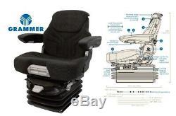 Grammer 12v Air Suspension Seat Volvo Backhoe, Wheel Loader