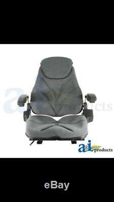 Gray Cloth Tractor Seat For Kubota Cub Cadet Tractor Lawn Loader Forklift NH JD