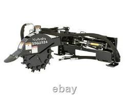 Kubota SSG2524 Stump Grinder Attachment Fits Skid Steer Loader