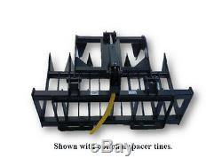 NEW 48 SKID STEER/COMPACT TRACTOR LOADER GRAPPLE ROOT RAKE kabota, new holland