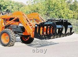 NEW 60 LD ROOT GRAPPLE ATTACHMENT Tractor Loader Bucket Rake LS Kioti Kubota 5
