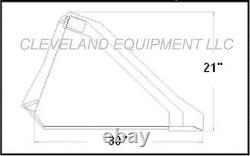 NEW 60 LOW PROFILE BUCKET Skid Steer Loader Attachment Wacker Nueson Thomas JCB