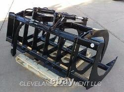 NEW 66 LD ROOT GRAPPLE ATTACHMENT Tractor Loader Bucket Rake Kubota Mahindra ls