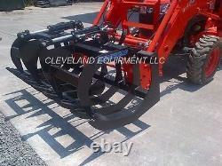 NEW 66 LD ROOT GRAPPLE ATTACHMENT Tractor Loader Bucket Rake LS Kioti Kubota
