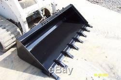 NEW 72,6 LOW PROFILE pro DIRT BUCKET SKID STEER LOADER bobcat, holland, case, gehl
