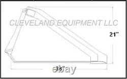 NEW 72 LONG BOTTOM BUCKET Skid Steer Loader Attachment Caterpillar Cat Takeuchi