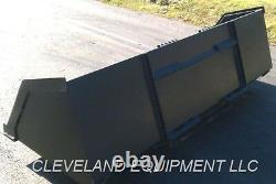 NEW 96 BULK MATERIAL BUCKET Snow Mulch Litter Skid-Steer Loader Bobcat Kubota