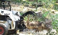 NEW STUMP GRAPPLE BUCKET ATTACHMENT Skid Steer Loader John Deere Holland Kubota