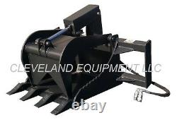 NEW STUMP GRAPPLE BUCKET SKID STEER LOADER TRACTOR ATTACHMENT tooth teeth log nr