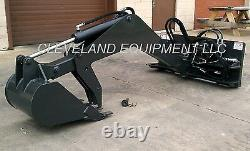 NEW SWING ARM BACKHOE ATTACHMENT Excavator Skid Steer Loader Bobcat Hydraulic nr