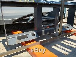 NEW Skid Steer Loader Hydraulic Sweeper Broom Attachment 72 6 feet Manual Angle