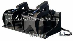 New 78/80 Industrial Grapple Bucket Skid Steer Loader Tractor Attachment Tine