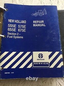 New Holland 555E, 575E, 655E, 675E Loader Backhoe Service Manual Set (Original)