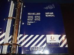 New Holland 555e 575e 655e 675e Backhoe Loader Service Repair Shop Manual Oem