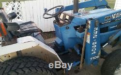 New Holland Ford 1520 Diesel Loader Woods Backhoe 4wd Runs Drives Digs
