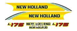 New Holland L175 Skid Steer Loader Decal / Adhesive / Sticker Complete Set