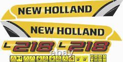 New Holland L218 Skid Steer Loader Decals / Stickers (Compatible Complete Set)