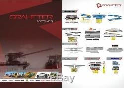 New Holland L223 Skid Steer Loader Decals / Adhesives / Stickers Complete Set