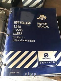 New Holland L565 Lx565 Lx665 Skid Steer Loader Service Repair Manual NH ORIGINAL