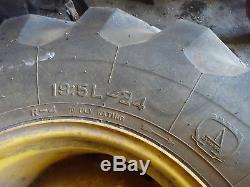 New Holland LB75 Tires & Wheels Rims 19.5L-24 NICE LB-75 Backhoe Loader Ford