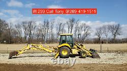 New Holland LB75B Backhoe Loader 2 Wheel drive not 4x4