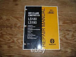New Holland LS180 LS190 Skid Steer Loader Hydraulic Shop Service Repair Manual