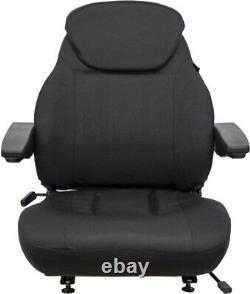 New Holland Loader/Backhoe Seat Assembly Fits Various Models Black Cloth