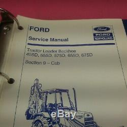 New Holland Service Manual Tractor Loader Backhoe 455d, 555d, 655d, 675d (lt412)