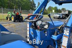 New Holland T1510 Tractor, 4x4, R4 Tires, 261 Hrs, Frt End Loader! Nice