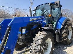 New Holland T5.115 Cab 4wd Tractor W Loader