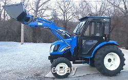 New Holland TC40A Diesel Tractor 40HP Loader, Heated Cab, 4x4, Only 488 hours