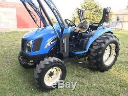 New Holland TC40DA Farm Tractor. 4x4 With Front End Loader. HST Trans