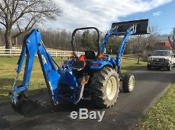 New Holland TC45D Deluxe Tractor, 45 HP, 4x4, Hydro, 423 Hrs, Loader & Backhoe
