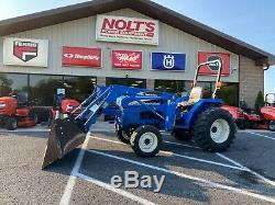 New Holland Tc30 Gear Drive 4x4 Compact Tractor With Loader 30 HP Diesel 546 Hr