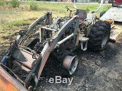 New Holland Tc35a Mfd, Tractor And 16la Loader, Ran Great Until Fire