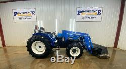 New Holland Tn65 4x4 Tractor Loader With 32la Loader, Front Aux, Rear Aux