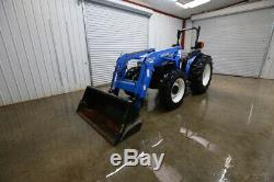 New Holland Tn65 Tractor Loader, Open Rops, 65hp, 4x4, 1 Rear Remote, Pto 56hp